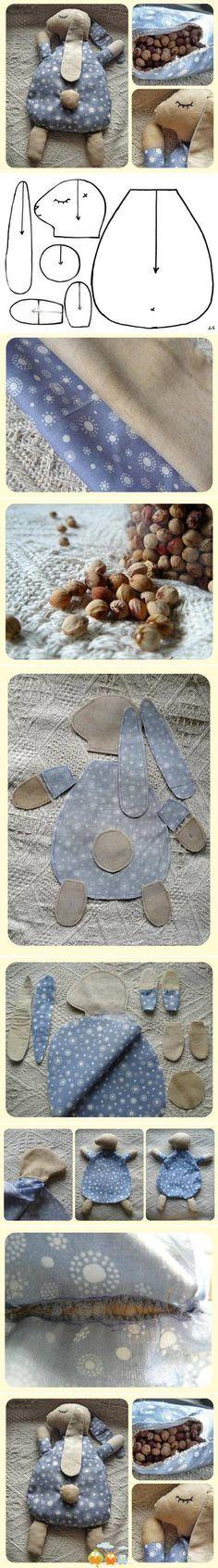 Baby Hase zum Kuscheln oder auch mit Kirschkernen gefüllt zum wärmen
