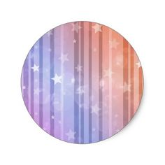 Christmas abstract star background classic round sticker - christmas craft supplies cyo merry xmas santa claus family holidays