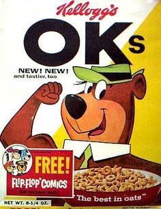 OKs cereal  c. 1961  Yogi Bear