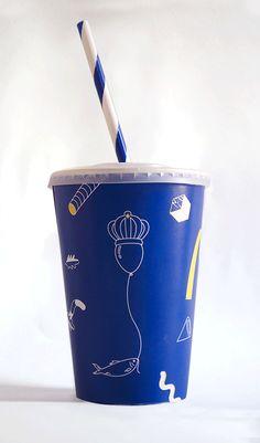 A Refreshing Blue and White McDonald's Rebranding – Fubiz Media
