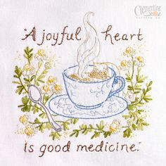 A Joyful Heart 100% Cotton Embroidery by ClementinePatterns