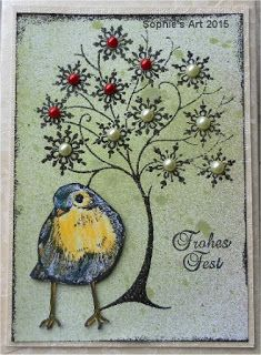 Sophie's Art: Steampunk-Tree with bird chickadee
