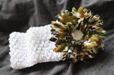 camo flower headband
