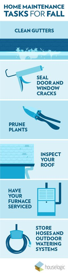 Fall is here! Now is the time to start checking these to-dos off your fall home maintenance list.