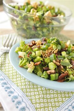 Crunchy Broccoli Salad without the MSG filed flavour packet :)