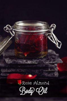 DIY | Rose Almond Body Oil // Valentine's Day is coming!#Skin&Body#Trusper#Tip Solid Perfume, Beauty Hacks, Diy Beauty, Beauty Tips, Diy Crafts, Beauty Recipe, Rose, Food Hacks, Cosmetics