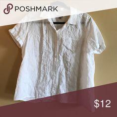 Linen shirt White linen shirt Tops Button Down Shirts