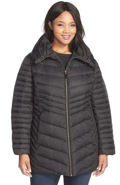 Marc New York 'Kirby' Pillow Collar Down & Feather Jacket (Plus Size) | Nordstrom