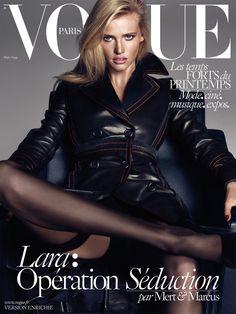 Kate Moss, Daria Werbowy & Lara Stone by Mert Alas & Marcus Piggott for Vogue Paris March 2015