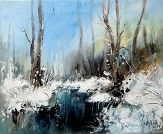 Czech Painter Milan Čihák - Czech Winter