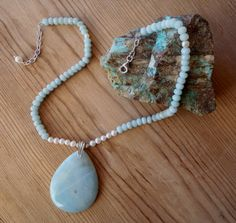 Seaside Rendezvous  Amazonite & Cultured Pearl by TinaTreTina, $72.00