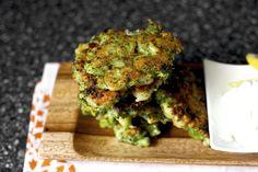 Broccoli Parmesan Fritters / Smitten Kitchen