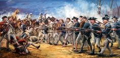 """The Old Line at Guilford Courthouse"" by Bryant White (whitehistoricart.com)."