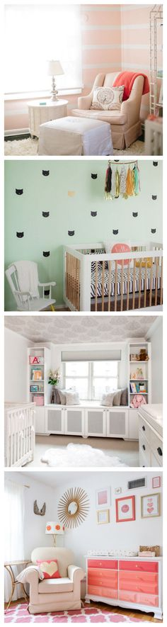 See beautiful nursery decorating ideas for girls or boys.