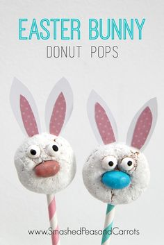 Easter Bunny Donut Pops are such a super cute idea!