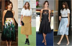 Alexa chung midi Waist Skirt, High Waisted Skirt, Alexa Chung, Vogue, Skirts, Fashion, Moda, High Waist Skirt, Skirt