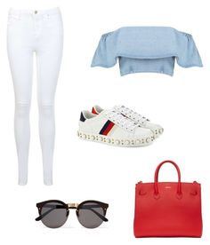 """Ll"" by victoriabajer on Polyvore featuring moda, Gucci, Miss Selfridge, Off-White i Illesteva"