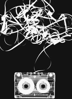 I like how this photogram shows almost like a story with the cassette tape. The string/ribbon coming out of the cassette looks super cool and creates a really interesting composition. Dark Room Photography, History Of Photography, Photography Classes, Photography Projects, Black And White Photography, Photography Portraits, Street Photography, Man Ray Photograms, Alternative Photography