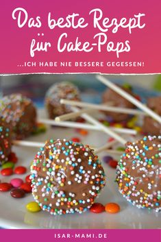 Cake Pops - Finally the best recipe for every occasion! Wonderfully sweet, juicy and chocolatey. - Cake pops must consist of juicy cakes and simply cannot be dry. My cake pops do not come from the c - Cheesecake Recipes, Keto Recipes, Dessert Recipes, Cake Basketball, Cake Pop Maker, Hummingbird Cake, Yogurt Cake, Italian Desserts, Cake Batter