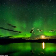 Alaska: Aurora Borealis as seen over the Nowitna River in the Nowitna National Refuge