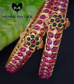 26 Never Seen Before Kada Bangle Collections! 26 Never Seen Before Kada Bangle Collections! Ruby Bangles, The Bangles, Silver Bangle Bracelets, Diamond Bangle, Jewelry Bracelets, Stackable Bracelets, Diamond Jewelry, Silver Earrings, Gold Necklace