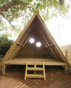 Wooden Play Tepee Made From Pallets