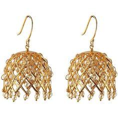Eina Ahluwalia Argyle Earrings ($135) via Polyvore