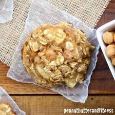 Caramel Apple Oatmeal Cookies - these cookies have an added protein punch and are mostly healthy (except the caramel of course).  A perfect fall treat!  Yield: 14 servings • Serving size: 1 cookie • Calories per serving: 72 • Fat: 2 g • Protein: 3 g • Carbs: 13 g • Fiber: 2 g • Sugar: 4 g • Sodium: 48 mg • Cholesterol: 16 mg