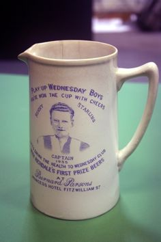 Sheffield Wednesday 1935 FA Cup Winners Tankard/Jug featuring captain Ronny Starling
