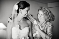 Getting ready with mom. Photo by Scott Hopkins Photography