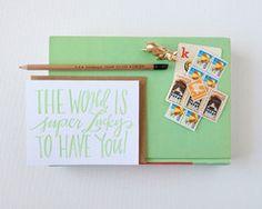 Super Lucky World Card #lindsaylettersshop