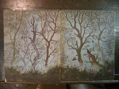 Garth Williams' end papers for - 'Elves & Fairies' (1951) by David G Klein