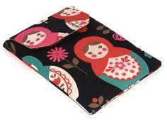 Ipad Mini Cover, Blackberry Playbook Sleeve Russian Nesting Dolls dark £15.00