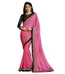 Buy Anjali Pink Printed Chiffon saree With Blouse chiffon-saree online