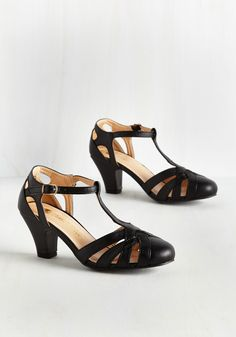 6402c7068d73cd Swing You Off Your Feet Heel in Black. Jump and jive in these black heels