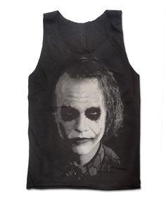 Heath Ledger The Joker Hand Print Tank Top Batman The Dark Knight Supervillain Actor Shirt Size  M. $16.99, via Etsy.