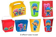 SAME DAY SERVICE - Pocoyo Printables for balloons, cups, goodie bags and more    WHAT YOU GET    This listing is for 4 JPEG files. You can print