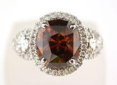 Orange Zircon and Diamond Ring @LarcJewelers #larcjewelers