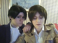 Love these guys watxh them on YouTube love their cosplay and i love levi when they cosplay and i just love the person who cosplays him