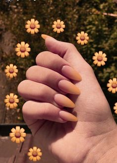 """If you're unfamiliar with nail trends and you hear the words """"coffin nails,"""" what comes to mind? It's not nails with coffins drawn on them. It's long nails with a square tip, and the look has. Cute Acrylic Nails, Matte Nails, Acrylic Nail Designs, Dark Nails, Acrylic Nails For Fall, Matte Almond Nails, Short Almond Nails, Coffin Nails Ombre, Hair And Nails"""