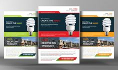 Check out Green Energy Solution Flyer Template by Corporate Flyers Postcard on Creative Market
