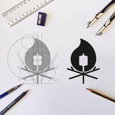 Follow us  @logoinspirations Campfire by @cfowlerdesign -  http://ift.tt/2geIf0d -  LEARN LOGO DESIGN  @learnlogodesign @learnlogodesign
