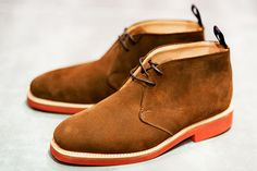 Traditional English shoe makers Sanders has one of its casual footwear styles presented here