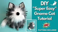 Dog Cat, Gnome Tutorial, Diy Crafts How To Make, Gnome Hat, Gnome Ornaments, Forest Friends, Cat Crafts, Christmas Gnome, Gnomes
