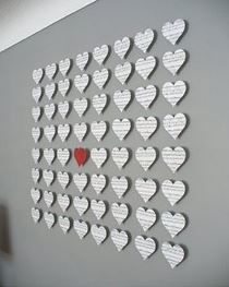 Love wall art I could do this with a deck of cards
