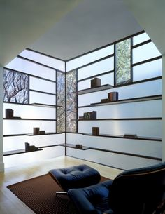 Opaque walls, with transparent windows. Give the entire room light, but keeps your privacy. - Glass Walls