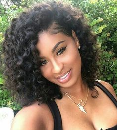 """12 """"Curly Wigs for African American Women Same as the Hairstyle Picture – Wigs for Black Women – Lace Front Wigs, Human Hair Wigs, African American Wigs, Short Wigs, Bob Wigs Source by Girls Natural Hairstyles, Wig Hairstyles, Quick Weave Hairstyles, Trendy Hairstyles, Hairstyles 2016, Short Haircuts, Teenage Hairstyles, Hairstyles For Black Women, Black Girl Prom Hairstyles"""
