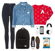 """""""Sans titre #5641"""" by youngx ❤ liked on Polyvore featuring Scotch R'Belle, Herschel Supply Co., Topshop, Converse and Nixon"""