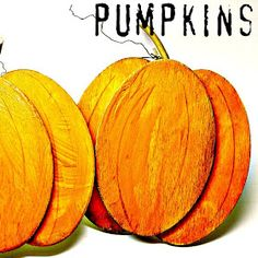 Fall is coming! We celebrated with making a few pumpkins.   You will need: Wooden oval shapes Orange and brown paint Glue - we used liquid...