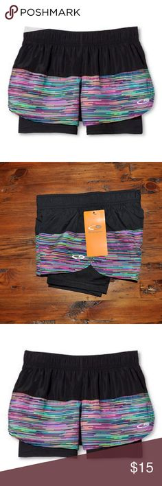 New CHAMPION Girls Black 2in1 Woven Run Shorts NWT Girls' 2 in 1 Woven Run Shorts Black Multi Stripe - C9 Champion  size S (6/6X) new with tags color: black multi stripe  @cjrose25  More kids clothes in my posh closet. Bundle your likes for a discount & save on shipping. Champion Bottoms Shorts